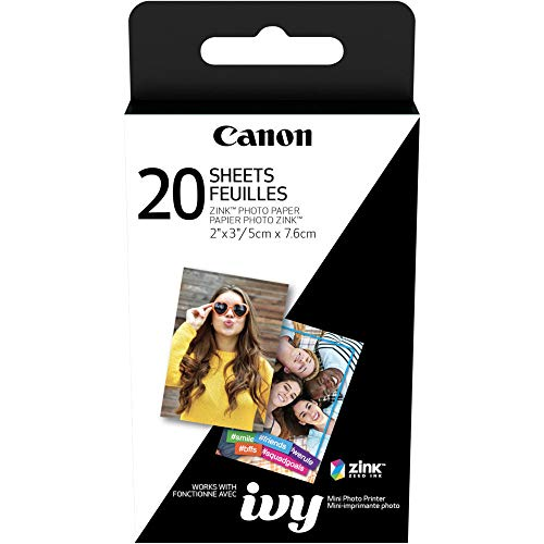 Canon Ivy Mini Mobile Photo Printer (Rose Gold) with Canon 2 x 3 Zink Photo Paper and Microfiber Cloth
