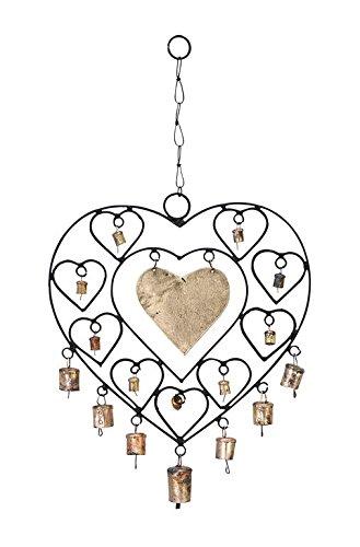 Deco 79 Metal Heart Windchime 14