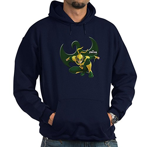 CafePress Ultimate Spiderman: Iron Fist Pullover Hoodie, Classic & Comfortable Hooded Sweatshirt Navy
