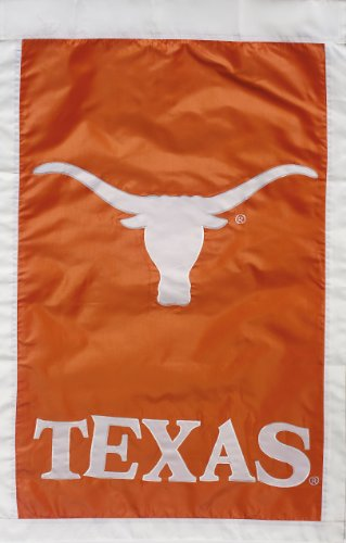 NCAA Texas Longhorns Double Sided 28 x 44-Inch Applique Flag