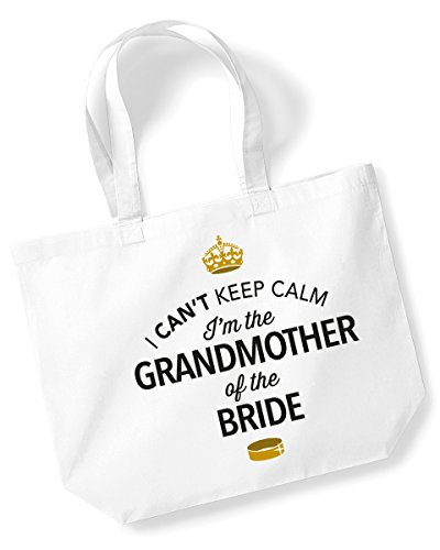 Grandmother Of The Bride, Grandmother Of The Bride Bag, Tote Bag, Grandmother Of The Bride Keepsake, Brides Grandmother, Brides Grandmother Gift, Brides Grandmother, Grandmother Of The Bride, Brides G White