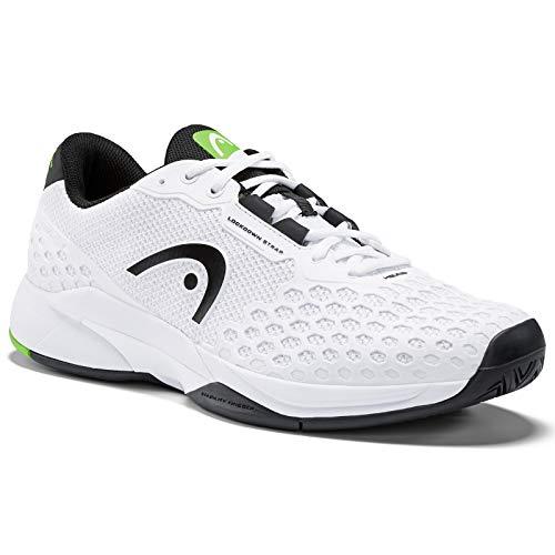 HEAD Men's Revolt Pro 3.0 Tennis Shoes, White/Black (10.5 US)