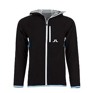 Men's J.Lindeberg FS JL 2.5 Ply Golf Jacket-Black-US Size L