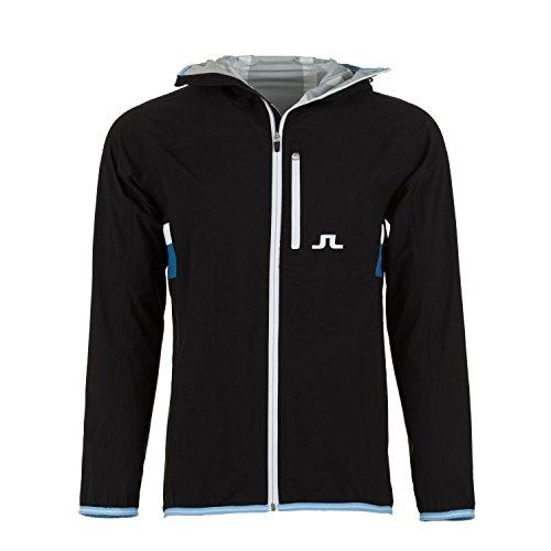 Men's J.Lindeberg FS JL 2.5 Ply Golf Jacket-Black-US Size XL by J.Lindeberg