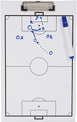 Trademark Innovations Soccer Erasable White Clipboard