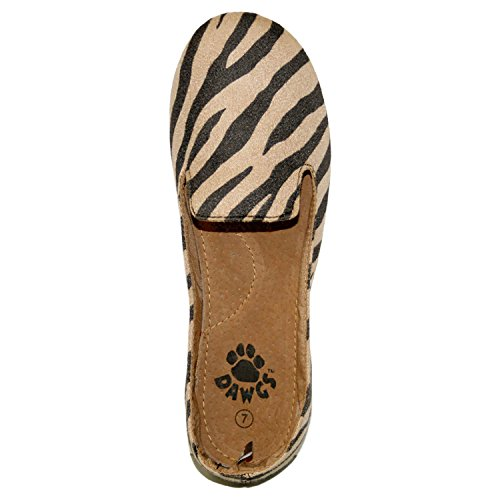 Dawgs Womens Kaymann Smoking Smoking Esotico Mocassino Nero / Tan Safari