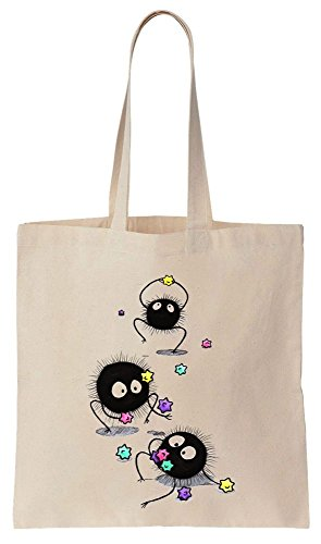 Cotton Canvas Tote Stars Bag Colorful With Happy Fairies Soot w4YfqqvX