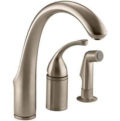 KOHLER Forte®Single-Control Remote Valve Kitchen Sink Faucet with Sidespray and Lever Handle