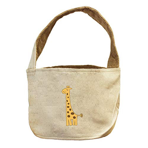 Style in Print Giraffe Closed Eyes Animals Canvas and Burlap Storage Basket by Style in Print