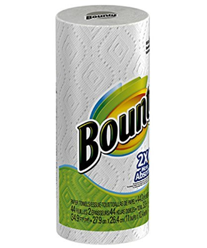 Bounty(R) 2-Ply Paper Towels, 11in. x 10 1/5in, White, 40 Sheets Per Roll, Pack Of 30 Rolls by Bounty