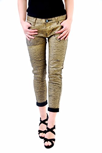 One Teaspoon Women's Matte Gold Golden Iggys Jeans Size 27 - Teaspoon Matte