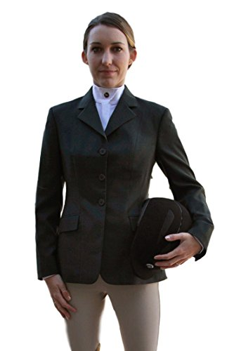 RJ Classics Ladies Diamond Collection Saratoga Show Coat Black Plaid (8)