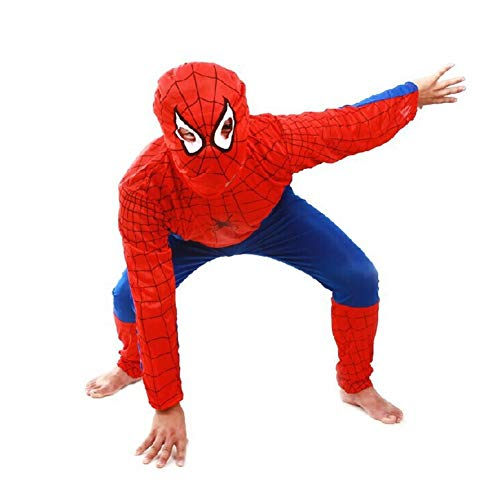 WSSHA Boys Superman Spider-Man Cosplay Halloween Party Costume Size M -