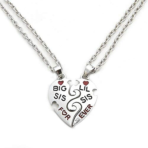 Lil Forever Gift Little Best Sister Big Broken Heart Necklace Sis