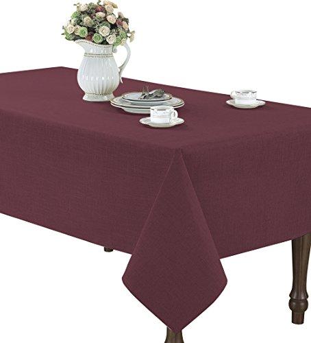 CaliTime Class Tablecloth Burgundy Rectangle
