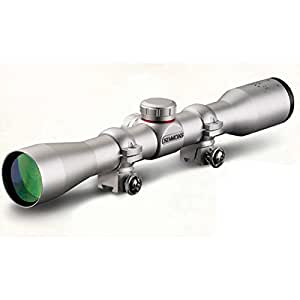 Simmons .22 Mag Truplex Reticle Adjustable Objective Rimfire Riflescope with Rings, 3-9x32mm (Silver)