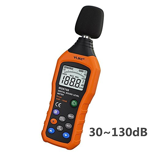 Digital Frequency Meter (VLIKE LCD Digital Audio Decibel Meter Sound Level Meter Noise Level Meter Sound Monitor dB Meter Noise Measurement Measuring 30 dB to 130 dB Date Logger Tester)
