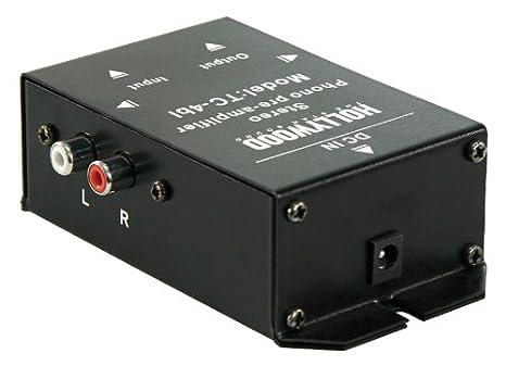 Phono de amplificador de Hollywood TC 4bl, Negro, Stereo, anschl. RCA o.5 de Pol DIN: Amazon.es: Electrónica