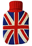 Product review for Warm Tradition British Flag Knit Covered Hot Water Bottle - Bottle Made in Germany