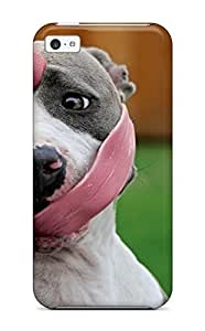 Durable Case For The Iphone 5c- Eco-friendly Retail Packaging(dog With Long Tongue)