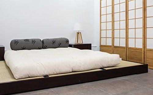Futon On Line Cama Macao Wengué 180 x 200 cm.: Amazon ...