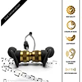 PILLARSON Wireless Earbuds, Compatible with Bluetooth Devices, Android & iPhone | Noise Cancelling, Apt-X Stereo | Indoor, Gym Sport, Outdoor | Magnetic, Sweatproof | Up to 7 Hours Playback