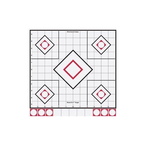 Birchwood Casey Shoot-N-C Sight-In Targets (Pack of 5), 12-Inch, White/Black