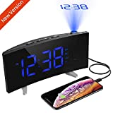 Best Projection Clocks - PICTEK Projection Alarm Clock, Digital Clock Kids Projector Review