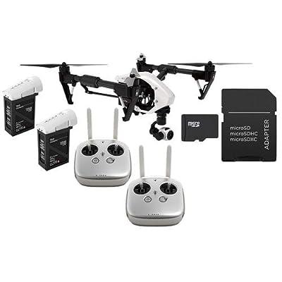 DJI Inspire 1 Quadcopter with 4K Camera and 3-Axis Gimbal - Bundle With 2 Remote Controls, DJI TB48 5700mAh LiPo Intelligent Flight Battery, 32GB Class 10 U3 MicroSDHC Card