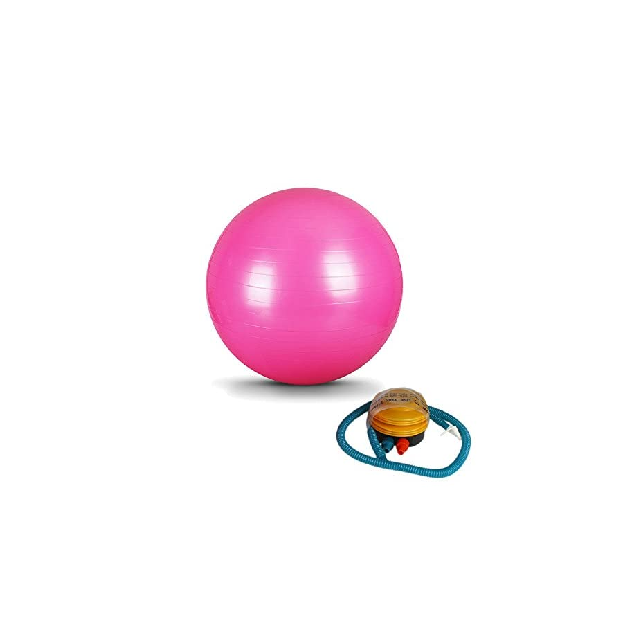 Swiss Balls Balance Stability Pilates Ball for Yoga Fitness Exercise Pink w/ Air exercise ball exercise ball chair exercise ball pump exercise ball Pink