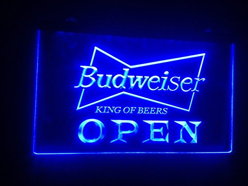 Price comparison product image A113-r Open Budweiser Beer Nr Pub Bar Neon Light Signs