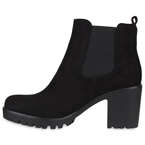 Chelsea Stiefelparadies Schwarz Mujer Negro Schwarz Botas 5fx0p