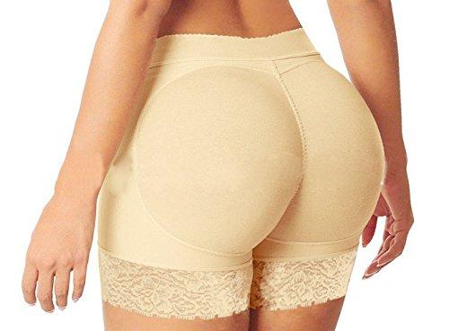 Do co-sport Women Padded Butt Lifter Enhancer Panty Body Shaper Fake Hip Shapwear Underwear Briefs (Beige, L)