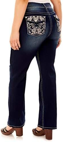 WallFlower Plus Size Luscious Curvy Bling Bootcut Jeans