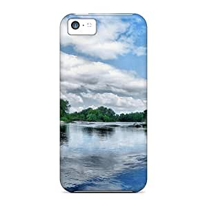 Excellent Design Stones In Forest Lake Phone Case For Iphone 5c Premium Tpu Case