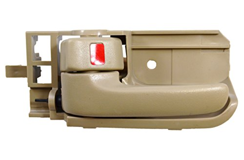 Tan Lh Drivers (PT Auto Warehouse TO-2567E-LH - Inside Interior Inner Door Handle, Beige/Tan - Driver Side)