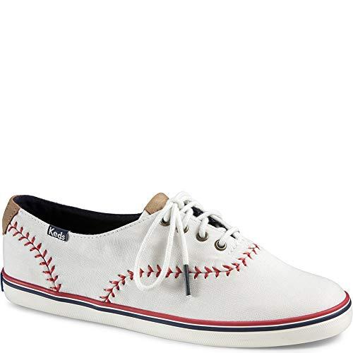 Cut Baseball Shoe - Keds Champion Pennant Women 10 Off White Canvas