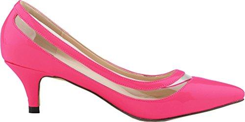 CFP - Sandalias con cuña mujer rosa (b)