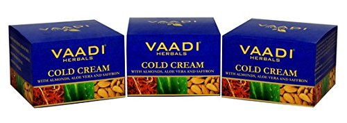 Vaadi Herbals Cold Cream With Almonds, Aloe Vera And Saffron 90g (3 X 90g)