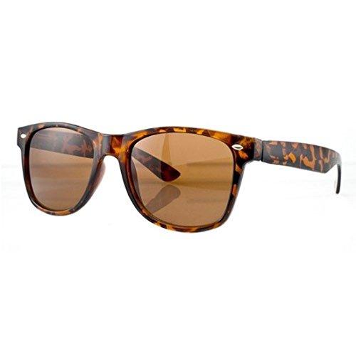 unisex de retro estilo marrón sol los Gafas cristales 80 espejo de de FXwq7UqxE