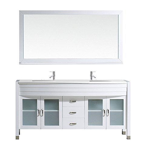 Virtu Md 499 S Wh Ava Double Bathroom Vanity Cabinet Set  63   White