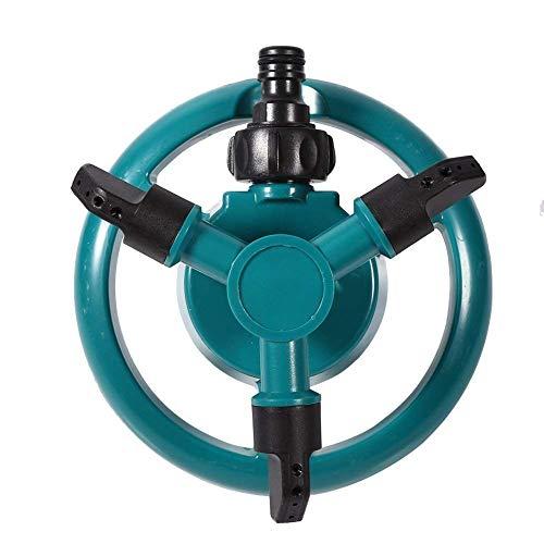 Aspersores de Agua Juego de riego Automático 360 Aspersor de Jardín Ajustable Rotativo 3 Aspersores de Césped con Brazo...