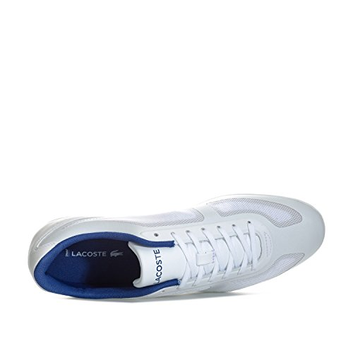 Lacoste Mens Misano Evo 117 1 Canvas / Mesh Lace Up Trainer White White