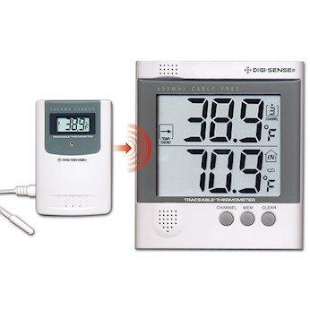 Digi-Sense Calibrated Wireless Digital Thermometer Set, 1 Remote Sensor
