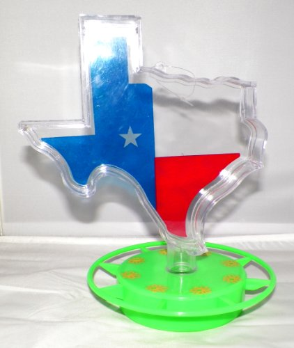 Hummingbird Feeder Set 22 oz Texas Shaped Container plus 8-Station Base