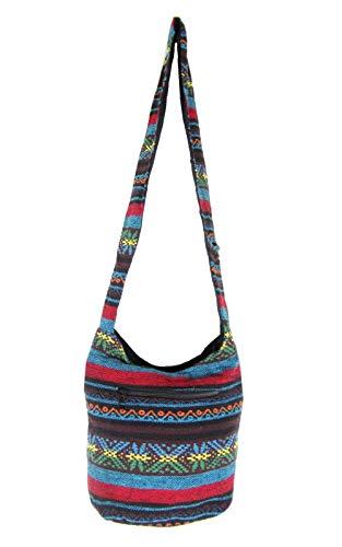 Small Aztec Shoulder Bag Bohemian Hippie Hobo Boho Sling for Teen Girls (Reggae ()