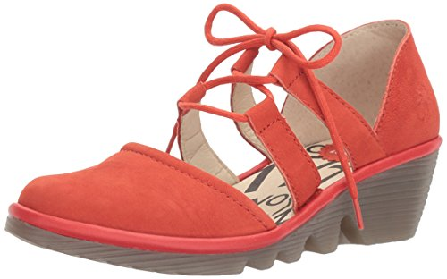 Fly London Womens Poma Oxford Scarlet Cupido / Mousse