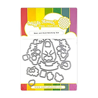 Waffle Flower Bear and Bird Matching Die: Arts, Crafts & Sewing