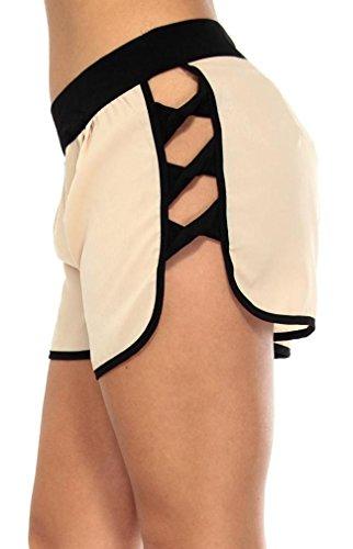 Small Slim 5095 Donna Fit Simplicity Shorts Stili beige Mini Vari In Da xZfqCPwS