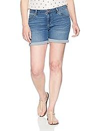 "Riders by Lee Indigo Womens Modern Collection 5"" Denim Rolled Cuff Short Denim Shorts"